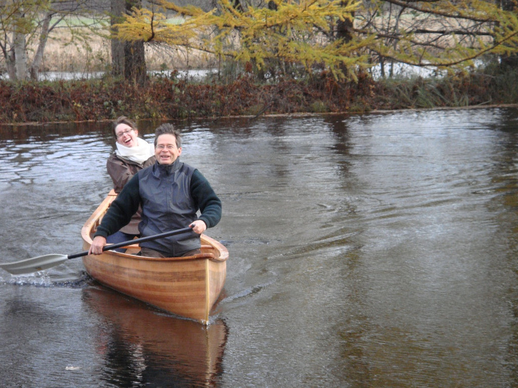 The 12 Month Canoe Season by Jean Gregoire, Notre-Dame des Pins, Quebec, Canada