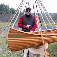 Jimmy DiResta's wooden canoe build
