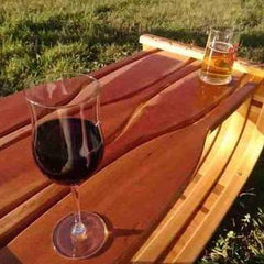 Canoe coffee table by Roger Foster