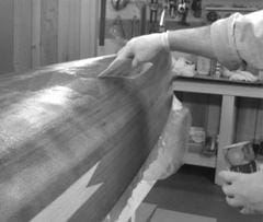 Fiberglassing A Woodstrip Hull - Techniques For A Perfect Clear Finish