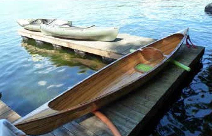 Zack Fleming's cedar strip canoe