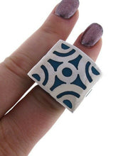 Load image into Gallery viewer, 925 STERLING SILVER TURQUOISE ENAMEL ESPERANZA RING