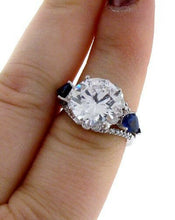 Load image into Gallery viewer, 11.65ct ROUND CZ ENGAGEMENT RING 18K WHITE GOLD SEMI MOUNT