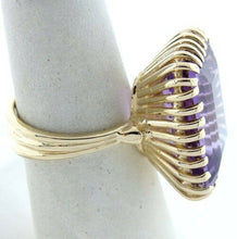 Load image into Gallery viewer, LADIES 14K GOLD 19x16mm SYNTHETIC AMETHYST HIGH RING