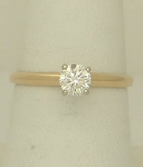 .47ct ROUND DIAMOND SOLITAIRE ENGAGEMENT RING 14k GOLD