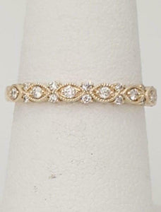 .21ct ROUND DIAMOND ALTERNATING MARQUISE BAND in 10K YELLOW GOLD