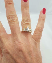 Load image into Gallery viewer, 14k YELLOW GOLD 1.00ct MARQUISE ROUND DIAMOND CASCADE SOLITAIRE ENGAGEMENT RING