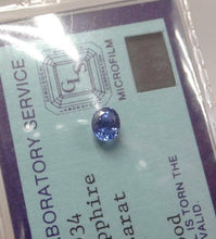 Load image into Gallery viewer, 1.19ctw 6 x 5mm OVAL CEYLON SAPPHIRE BLUE GEMOLOGICAL LABORATORY CERTIFICATE