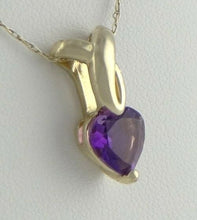 Load image into Gallery viewer, 14K GOLD 2.00ct HEART AMETHYST PENDANT