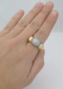 CAVIAR 18K GOLD & 925 STERLING SILVER 3/4ct DIAMOND RING