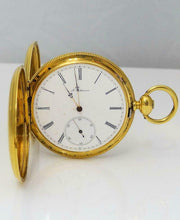Load image into Gallery viewer, VINTAGE 1972 A. SALTRMANN 18K YELLOW GOLD POCKET WATCH 45MM