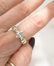 Load image into Gallery viewer, LADIES 14k YELLOW GOLD MARQUISE 1 1/4ctw DIAMOND SOLITAIRE ENGAGEMENT RING