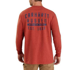 Carhartt Original Fit Heavyweight Long-Sleeve Pocket Rugged Workwear Graphic T-Shirt