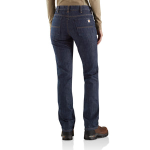Carhartt Women's FR Original Fit Rugged Flex Jeans - Premium Dark