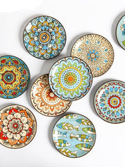 Creative Hand-Painted Ceramic Plate Round
