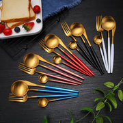 Gold Dinnerware Set Stainless Steel Cutlery