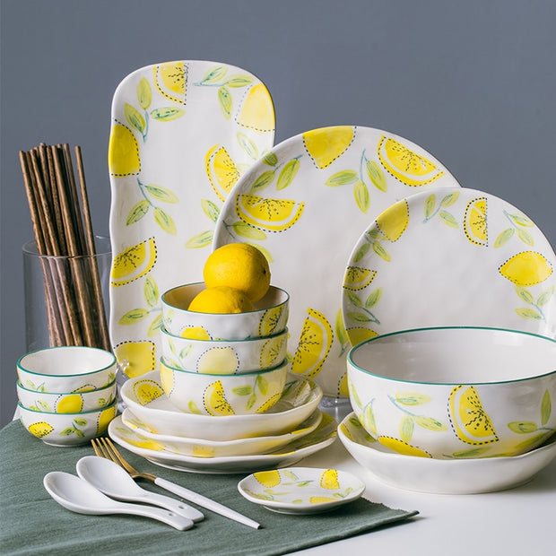 Lemon Painted Creative Porcelain