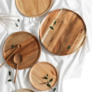 Rubber Wood Round Plate