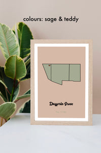 **DIGITAL DOWNLOAD** Personalized Neighbourhood Map