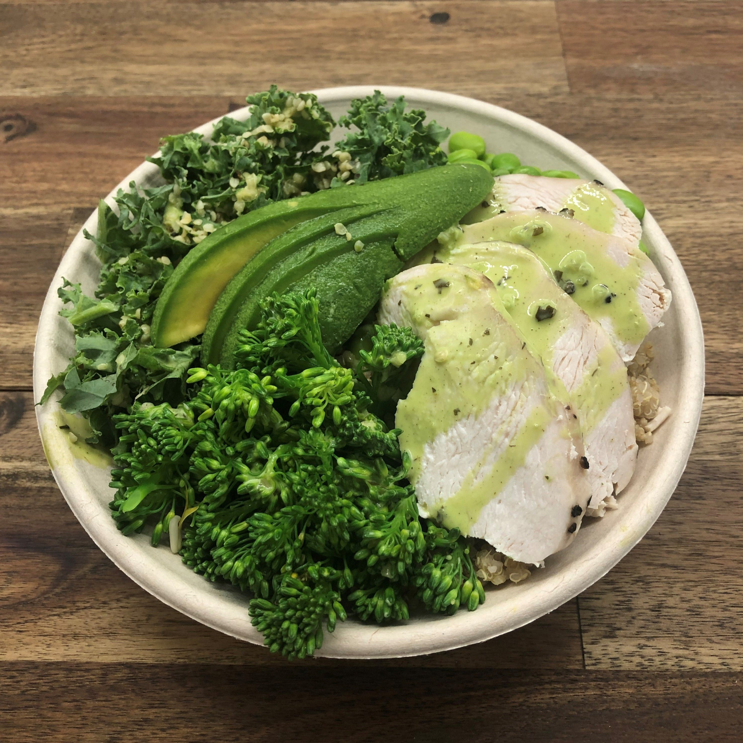 **NEW** Green Goddess Bowl with Chicken (GF DF)