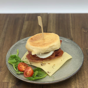 Bacon, Egg, BBQ Sauce & Tasty Cheese English Muffin