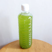 green tea powder in bottle