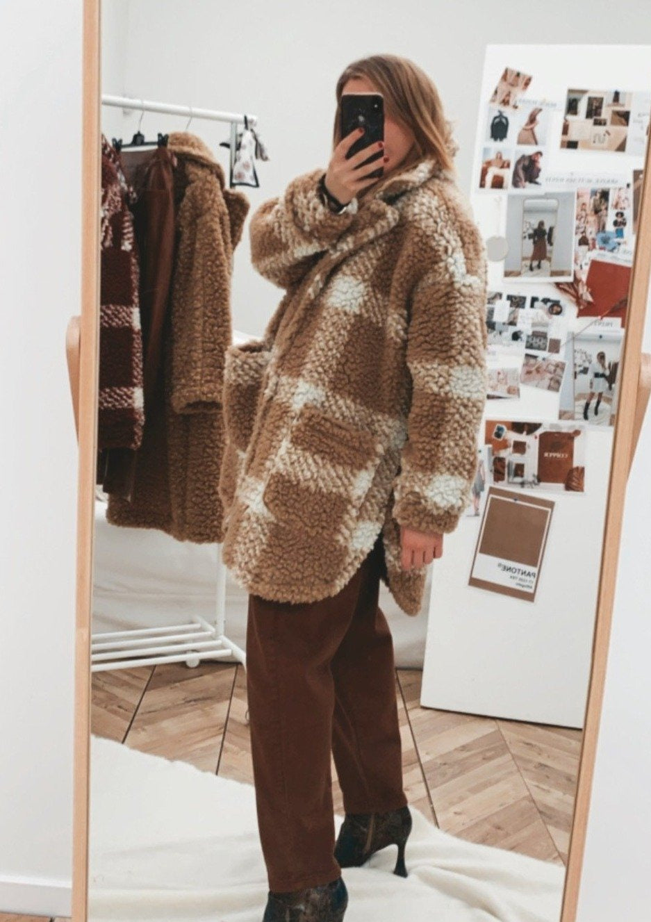 CAPPOTTO TEDDY A QUADRI