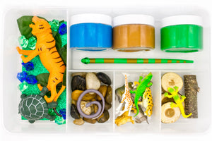 Wild Animals - Play Dough Bin