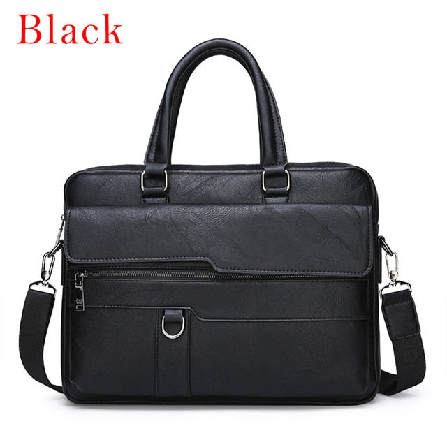 Men Briefcase Bag High Quality Business Famous Brand Leather Shoulder Messenger Bags Office Handbag 13.3 inch Laptop