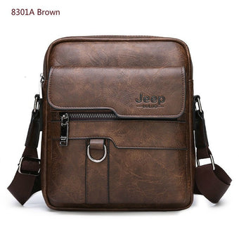 New Men Briefcase Bags Business Leather Shoulder Messenger Bags Man Work Handbag 14 Inch Laptop Bag Bolso Hombre Bolsa Masculina