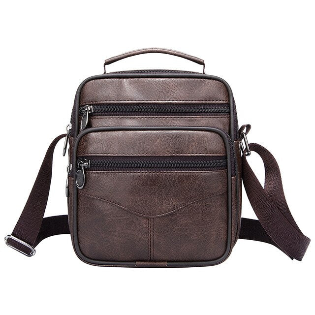Men Messenger Bag Leather Vintage Crossbody Bag High Capacity Business Briefcase Handbag Man Casual Shoulder Bags Cross Body