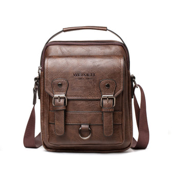 New Man's Crossbody Shoulder Bag Multi-function Men Handbags Large Capacity Split Leather Bag For Man Messenger Bags Tote Bag