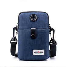 Fashion Men Messenger Bag Phone Pocket Crossbody Bag For Men Shoulder Handbag Multifunctional Male Small Flap Black