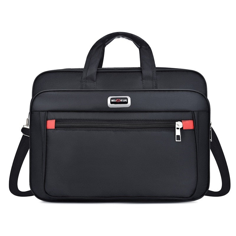 High Quality cheap Men Briefcases Business Computer Handbags Portable Zipper Shoulder Laptop Bag Waterproof Office Portable Bag