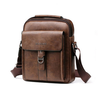 Vintage Men PU Leather Brand Shoulder Bag Men Messenger Bags Male Crossbody Handbag Tote Bags Business Casual Bags For Men