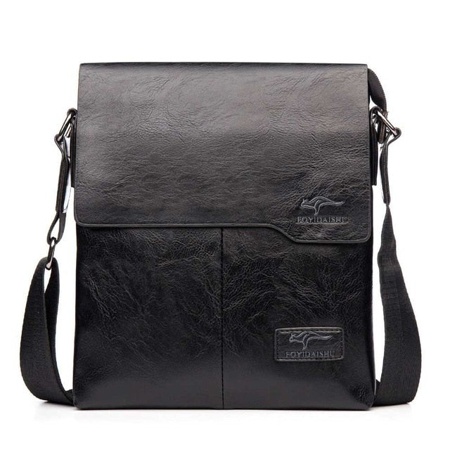 Vintage men's shoulder bags brand crossbody bags for man designer male pu leather messenger bags big capacity handbags fashion
