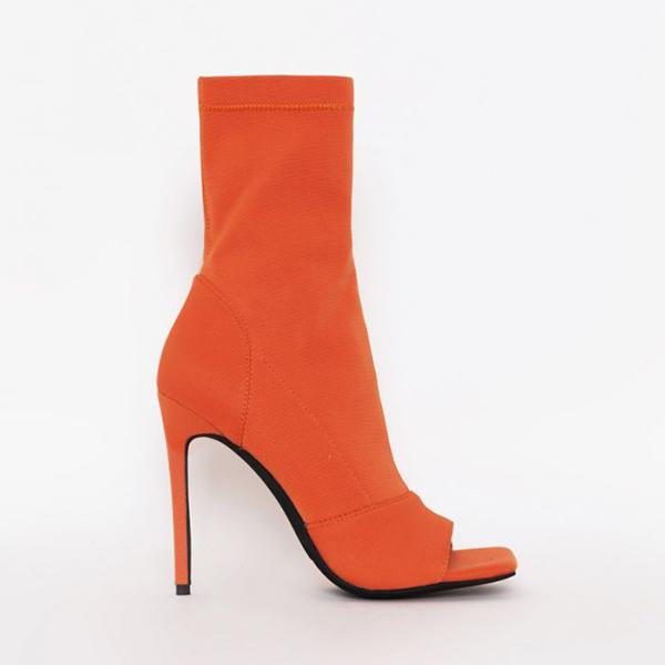 Mavishoes Peep Toe Ankle Boots