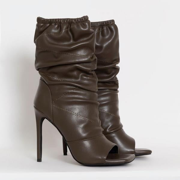 Mavishoes Elastic Pleated Boots