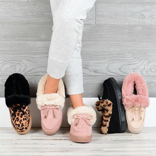 Mavishoes Comfy Fluffy Faux Fur Slipper