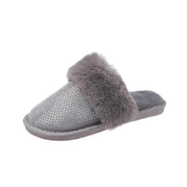 Mavishoes Diamond Faux Fur Slippers