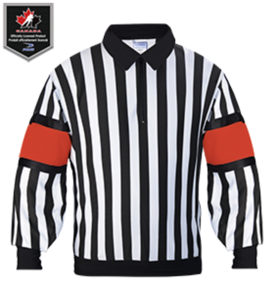 FORCE Pro Referee Jersey with sewn-in arm bands. Red or Orange