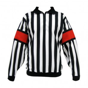 CCM Pro Quality Referee Jersey MPRO150B with Red/Orange bands sewn-in.