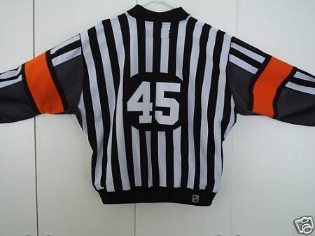 SP Pro Quality Referee Jersey with black sleeve inserts and sewn-in arm bands.  Red or Orange