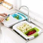 4-IN-1 OVER-THE-SINK CUTTING BOARD