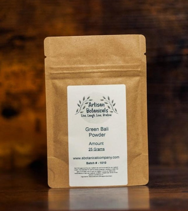 Green Bali, Kratom Powder - Artisan Botanicals