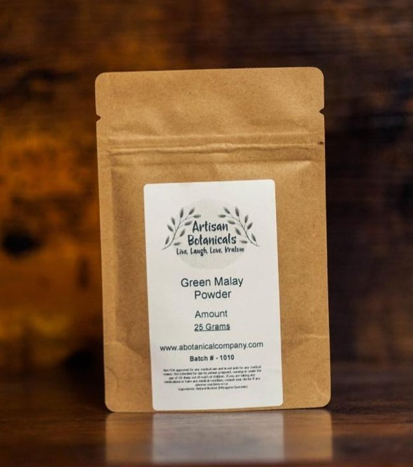Green Malay, Kratom Powder - Artisan Botanicals