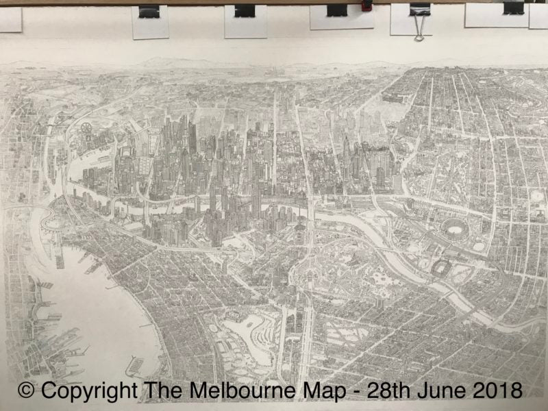 The Melbourne Map Illustration update as at 28 June 2018