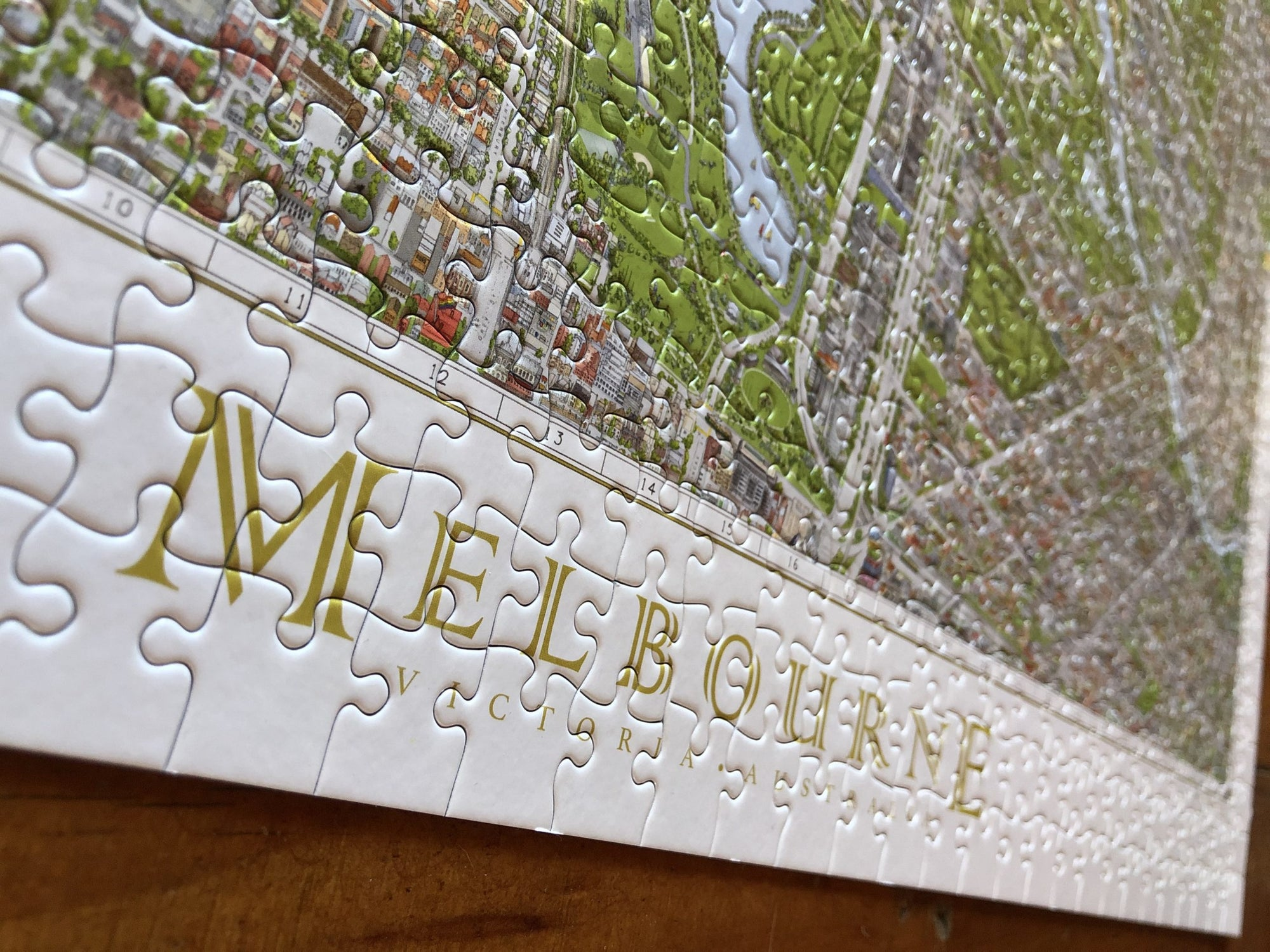 The Melbourne Map 1,000 piece Jigsaw Puzzle – Production Update