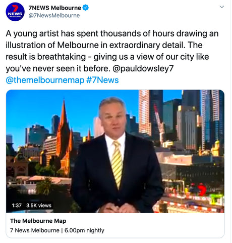 7 News The Melbourne Map launch