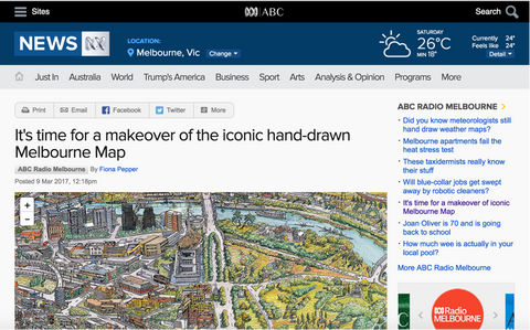The Melbourne Map ABC online - time for a makeover of iconic map